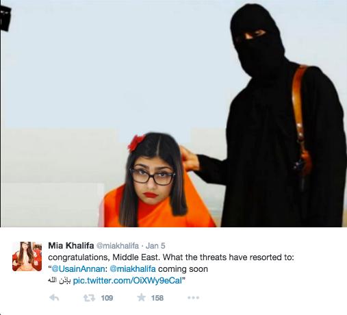 Libanska porno glumica Mia Khalifa prima pretnje smrću Prolog